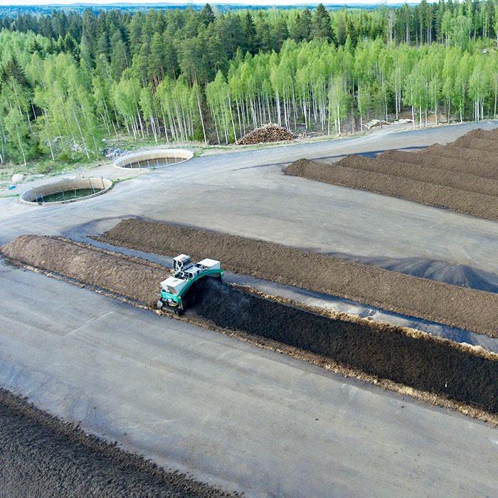 kompostikenttä Maanparannuskomposti